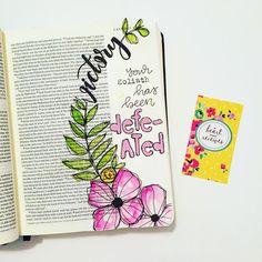 Bible Journaling by @ynzeebrooke