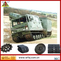 Hagglunds crawler carrier vehicles BV206 accessories rubber track