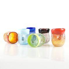 Murano Glass Tumblers Set  colored classic genuine by YourMurano