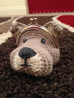 Dog Coin Purse crochet by Laura Loves Crochet