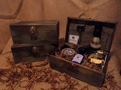 Groomsmen Gifts Rustic wedding Shave Kits von CardinhamKilligrew