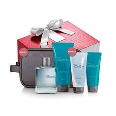 Presente Natura Homem  Desodorante Colônia + Shampoo + Gel para Barbear + Gel pós-barba + Nécessaire + Embalagem  O amor é o aqui e o agora!