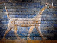 Dragon from the Ishtar Gate, in the exhibit Assyria to Iberia at the Dawn of the Classical Age