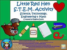$ - Little Red Hen S.T.E.M. activity for Kindergarten and First Grade.  Enjoy! Regina Davis aka Queen Chaos at Fairy Tales And Fiction By 2.