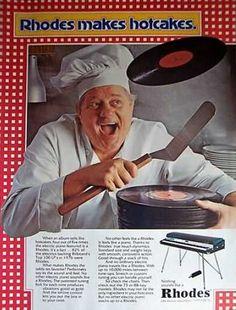 Rhodes Piano Keyboard makes Hotcakes, 1977.