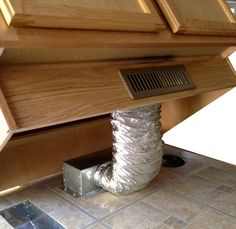 Toe Ductor Under Cabinet Toe Kick Ducting Kit Home Renovation, Home Remodeling, Cabinet Toe Kick, Baseboard Heating, Window Benches, Window Seats, Kitchen Chandelier, Under Cabinet, Home Repairs