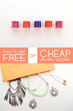 How to get cheap or free jewelry supplies for all your awesome projects! This is...