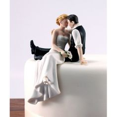 The Look Of Love Bride & Groom Wedding Cake Topper Figurines [977-9211 Buy Look Of Love Topper] : Wholesale Wedding Supplies, Discount Wedding Favors, Party Favors, and Bulk Event Supplies