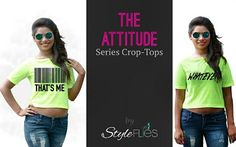 Add these statement Crop-Tees to your collection and add more style to your wardrobe!!!