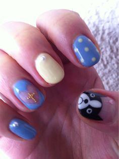 Heart cross dog nails