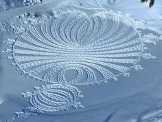 crop circles in the snow - Google Search