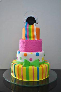 Rainbow Birthday Cake ♡