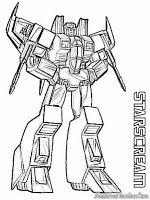 Gambar Star Scream Robot Transformer Untuk Diwarnai