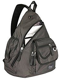 d2f5bf975cc6 New Vanlison One Strap Sling Bag Backpack Cross Body 14 Laptop Shoulder Bag  Travel Backpack Black online - Offerdressforyou