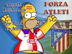 homer is from atletico de madrid? The Simpsons, Real Madrid, Mario, Football, Fictional Characters, Club, Random, Football Team, Funny Taglines