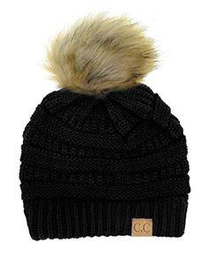 0f1d65da3ec Enjoy exclusive for NYFASHION101 Exclusive Soft Stretch Cable Knit Faux Fur  Pom Pom Beanie Hat online