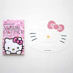 Sanrio Hello Kitty Face Pack 2 Sheets PINK -beauty skin care masks- Japan New