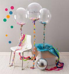 globos de fiesta con confeti