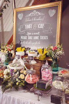 Garden themed dessert table #wedding #garden #dessert #desserttable