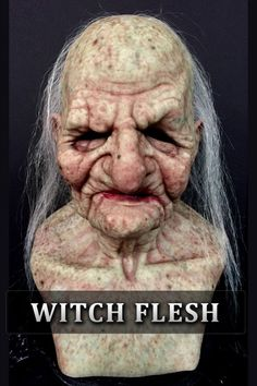 The Hag Silicone Mask -- this site has fabulous silicone masks Witch Makeup, Fx Makeup, Scary Face Paint, Immortal Masks, The Hills Have Eyes, Halloween Masks, Halloween Decorations, Silicone Masks, Horror Pictures