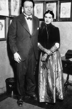 * Diego Rivera y Frida Kahlo en el Hotel Park Crescent durante una visita a Nueva York (1933)