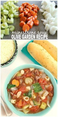 Olive Garden Minestrone Soup Copycat Recipe Slow Cooker Recipes, Crockpot Recipes, Cooking Recipes, Healthy Recipes, Healthy Soups, Copycat Recipes, Fall Soup Recipes, Dinner Recipes, Crockpot Minestrone