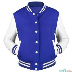 The high fashion collection of the dew drops blue and white varsity jacket brings along an extremely super class effect right through the look and appeal.