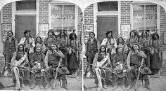 1875 Ute Indians in Colorado Springs.
