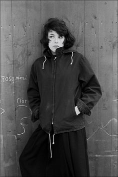 "Isabelle Adjani on the set of the film ""Barocco"", 1976 Isabelle Adjani, Woman Movie, Skinhead, French Actress, Post Punk, Fall Looks, Fashion Details, Portrait, Style Icons"