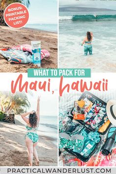 What to Pack for Maui: Essential Hawai'i Packing List Hawaii Travel Guide, Packing Tips For Travel, Travel Advice, Packing Lists, Hawaii Destinations, Bucket List Destinations, Canada Travel, Travel Usa, Best Hawaiian Island
