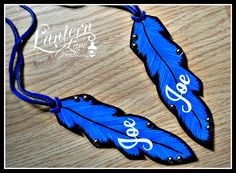 Personalized painted Saddle Feathers