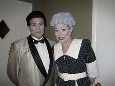 couples halloween costume idea lucy dezi in black white