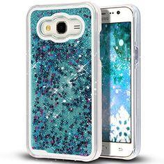 Galaxy Core Prime Case,NSSTAR Galaxy Core Prime [Liquid] [Glitter] Case,Creative Design Flowing Liquid Floating Bling Glitter Sparkle Stars Clear Hard Case for Samsung Galaxy Core Prime G360(Silver)
