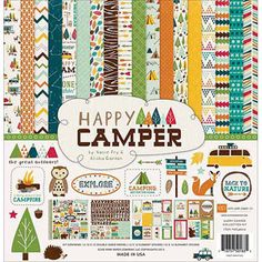 "Echo Park Paper Happy Camper Collection Kit, 12"" x 12"""