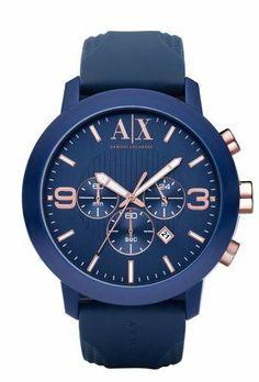 "Armani Exchange Blue ""Active"" Chronograph Men's Watch AX1150 A X Armani Exchange. $170.00"
