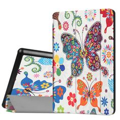 Fashion Butterfly Pattern PU Leather Case For Amazon Kindle Fire HD 8 2016 Magnetic Flip Protective Shell Camouflage HD 8 Cover #Affiliate