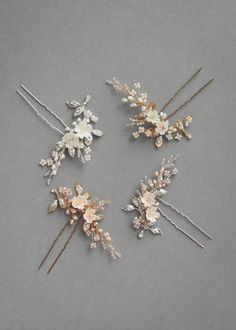 Wedding Hair Accessories Delicate bridal hair pins for the modern bride_TEAROSE bridal hair pins assorted-colours - We love to recommend our bridal hair pins for our brides who want versatility with styling their hair. Wedding Hair Pins, Headpiece Wedding, Bridal Headpieces, Wedding Veils, Gold Wedding, Rustic Wedding, Wedding Stuff, Dream Wedding, Wedding Ideas