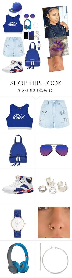"""""""8/8/16"""" by kittymiss060 on Polyvore featuring New Look, MICHAEL Michael Kors, Matthew Williamson, NIKE and Beats by Dr. Dre"""