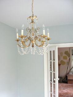 Benjamin Moore silver cloud for basement bedroom