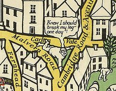 There's a pessimistic man on Malvern Road. | 9 Wonderful Details From A Hundred-Year-Old Map Of The London Underground