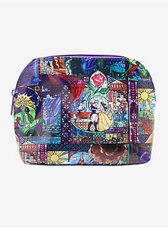 70e6ceaab5d3 A thing of Beauty    Disney Beauty And The Beast Stained Glass Makeup Bag  Disney