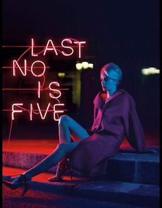 Dramatic Neon Sign Editorials - The Stiletto Magazine 'Lost in Paris' Photoshoot is Vibrantly Dark (GALLERY)