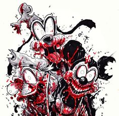 Zombie Disney, Creepy Disney, Disney Horror, Gothic Fantasy Art, Final Fantasy Artwork, Fantasy Kunst, Evil Cartoon Characters, Cartoon Character Tattoos, Zombie Kunst
