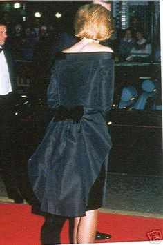 1988 This is the back of her wee black dress with the bow on peplum. It's pretty.