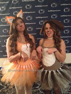 The Foxy Fox and Hottie Hound Couple Costume… Coolest Halloween Costume Contest