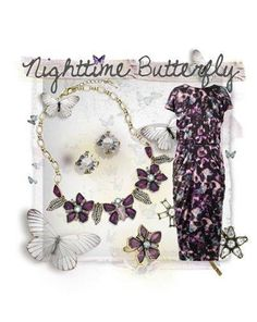 Papillon Nocturne Limited Edition collection- Love the ring? Buy it now because sizes are already selling out www.chloeandisabel.com/boutique/christygustin  #PantoneColorofTheYear #RadiantOrchid