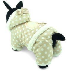 ZUNEA Pet Apparel Small Dog Cat Clothes Winter Fleece Lining Hoodie Coat Jacket Four-leg Jumpsuit Polka Dot >>> Read more reviews of the product by visiting the link on the image. (This is an affiliate link and I receive a commission for the sales) #MyPet