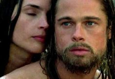 Brad Pitt and Julia Ormond in Legends of the Fall Julia Ormond, Brad Pitt, Richard Gere, Inspirational Movies, Clean Shaven, Male Face, Classic Movies, Facial Hair, Men Looks