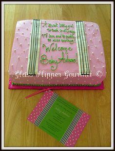 http://cakedecoratingcoursesonline.com/cake-decorating/ Dots and Stripes shower cake for Baby Adamo. #Baby #Shower #Cake #Design - Learn Amazing #Cakes #Design Creating on http://CakeDecoratingCoursesOnline.com and Make Your Dream Baby Shower Cake Yourself