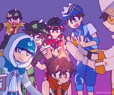 Boboiboy Anime, Hot Anime Boy, Anime Chibi, Kawaii Anime, Anime Guys, Anime Art, Anime Galaxy, Boboiboy Galaxy, Doraemon Wallpapers